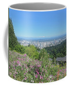 Portland Skyline With Mount Hood Coffee Mug