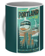 Portland Poster - Tram Retro Travel Coffee Mug
