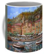 Portofino-la Piazzetta E Le Barche Coffee Mug
