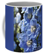 Portrait Blue Delphinium 114 Coffee Mug