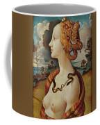 Portrait De Femme Dit De Simonetta Vespucci Coffee Mug