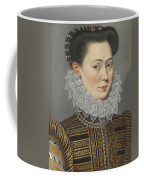 Portrait Of A Lady Head And Shoulders In A Lace Ruff Coffee Mug
