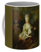 Portrait Of A Lady Seated In A Landscape With Her Pet Dog And A Monkey Coffee Mug