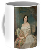 Portrait Of A Lady Sitting Under A Pergola Coffee Mug