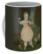 Portrait Of A Little Girl Picking Grapes Coffee Mug