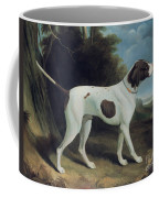 Portrait Of A Liver And White Pointer Coffee Mug by George Garrard