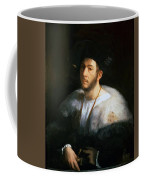 Portrait Of A Man Probably Cesare Borgia 1520 Coffee Mug