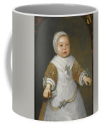 Portrait Of A One-year-old Girl Of The Van Der Burch Family Three-quarter Length Coffee Mug