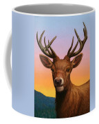 Portrait Of A Red Deer Coffee Mug by James W Johnson