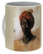 Portrait Of A Turk In A Turban Coffee Mug by Ferdinand Victor Eugene Delacroix
