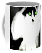 Portrait Of A White Cat Coffee Mug