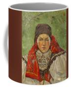 Portrait Of A Woman In A Red Scarf Coffee Mug