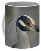 Portrait Of A Yellow Crowned Heron Coffee Mug