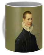 Portrait Of A Young Gentleman Head And Shoulders At The Age Of 23 Coffee Mug
