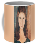 Portrait Of A Young Girl Coffee Mug by Amedeo Modigliani