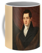 Portrait Of A Young Man In Front Coffee Mug