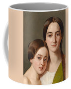 Portrait Of Alexandrine Pazzani And Her Cousin Caroline Von Saar According To Family Tradition Coffee Mug