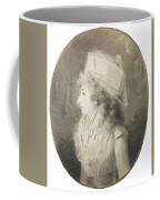 Portrait Of An Elegant Lady In Profile, Wearing A Hat Coffee Mug