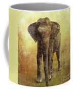 Portrait Of An Elephant Digital Painting With Detailed Texture Coffee Mug