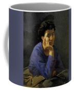 Portrait Of An Unknown Woman In A Blue Blouse Coffee Mug