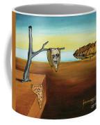 Portrait Of Dali The Persistence Of Memory Coffee Mug
