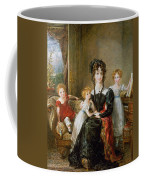 Portrait Of Elizabeth Lea And Her Children Coffee Mug by John Constable