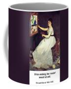 Portrait Of Eva Gonzales 1870 Coffee Mug