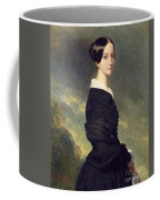 Portrait Of Francisca Caroline De Braganca Coffee Mug by Franz Xaver Winterhalter