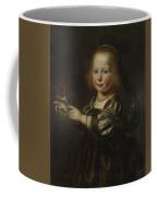 Portrait Of Geertruyt Spiegel With A Finch Coffee Mug