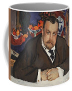 Portrait Of Ivan Morozov 1910 Valentin Serov Coffee Mug