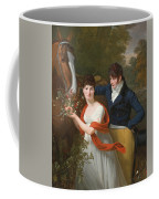 Portrait Of Jean-louis Gustave D'hautefort And His Sister Marie-therese-thais D'hautefort Coffee Mug