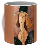 Portrait Of Jeanne Hebuterne In A Large Hat Coffee Mug by Amedeo Modigliani