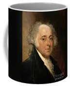 Portrait Of John Adams Coffee Mug by Gilbert Stuart