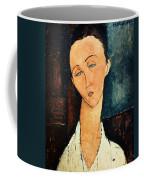 Portrait Of Lunia Czechowska Coffee Mug by Amedeo Modigliani
