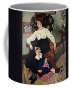 Portrait Of Marie Coca And Her Daughter Coffee Mug by Marie Clementine Valadon
