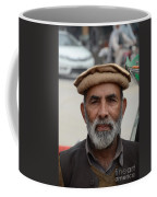 Portrait Of Pathan Tuk Tuk Rickshaw Driver Peshawar Pakistan Coffee Mug