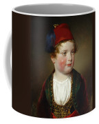 Portrait Of Prince Victor Odescalchi  In Greek Costume At The Age Of Five Coffee Mug