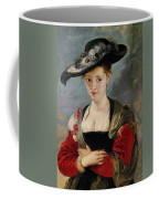 Portrait Of Susanna Lunden Coffee Mug by Peter Paul Rubens