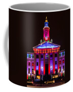 Portrait Of The Denver City And County Building During The Holidays Coffee Mug