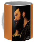 Portrait Of The Poet Pietro Aretino Coffee Mug