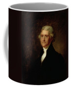 Portrait Of Thomas Jefferson Coffee Mug by Asher Brown Durand
