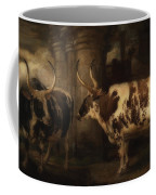 Portrait Of Two Oxen - The Property Of The Earl Of Powis Coffee Mug