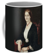 Portrait Of Woman With Peony Coffee Mug
