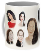 Portraits Of Lovely Asian Women II Coffee Mug