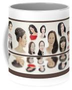 Portraits Of Lovely Asian Women  Coffee Mug