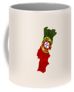 Portugal Map Art With Flag Design Coffee Mug