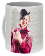 Possessed Girl With Bloody Toothbrush. Gum Disease Coffee Mug