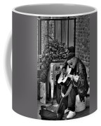 Post Alley Musician In Black And White Coffee Mug