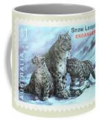 Postage Stamp - Snow Leopard By Kaye Menner Coffee Mug