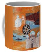 Postcard From Santorini Coffee Mug